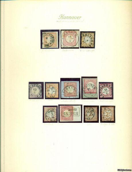 HANNOVER Stempel auf DR Brustschilden Schöne Sammlung
