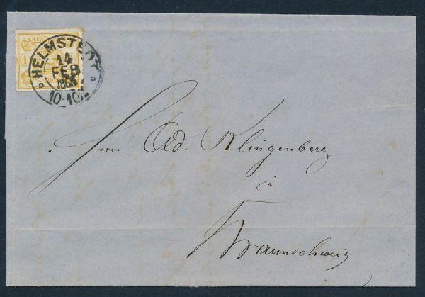 Braunschweig Mi.Nr.14 B auf Brief Luxus Fotoattest BPP