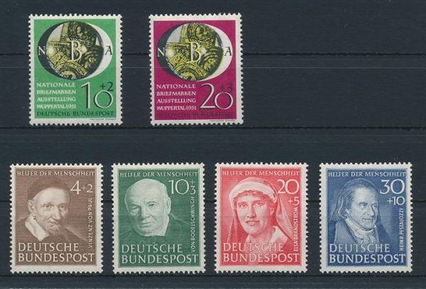 Bundesrepublik Mi.Nr.141-46 ** postfrisch (230.-)