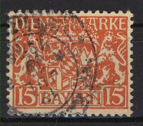 Bayern Dienst Mi.Nr.27w gestempelt geprüft