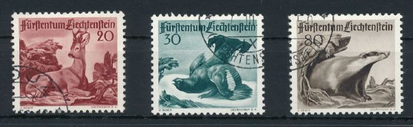 Liechtenstein Mi.Nr.285-87 gestempelt