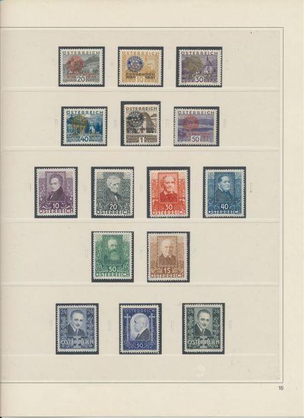 Österreich 1919-1937 ** postfrische TOP - Kollektion