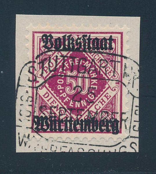 Württemberg Mi.Nr.143a gestempelt Lux Fotobefund BPP