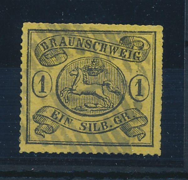 Braunschweig Mi.Nr.11B gestempelt Luxus Fotoattest BPP
