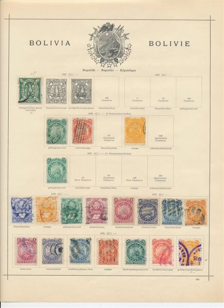 Bolivien Klassik bis Semiklassik Interess. Sammlung