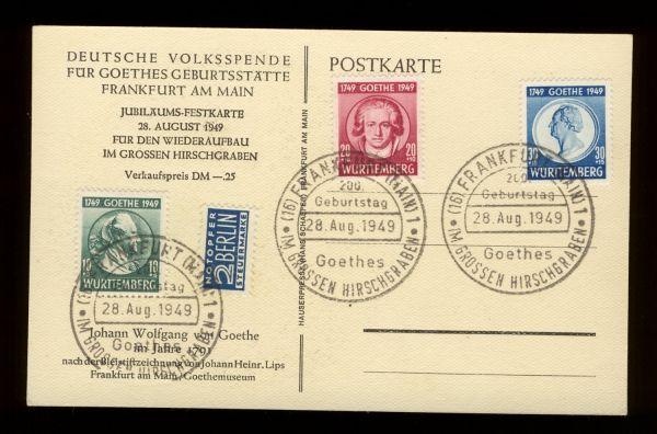 Französische Zone Württ.44-46 auf Sonderkarte
