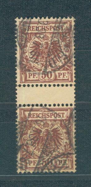 Deutsches Reich Mi.Nr.50d Zwischenstegpaar gest.gepr.