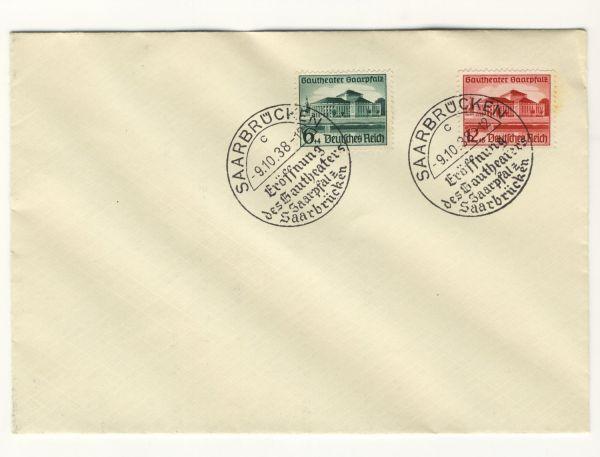 Deutsches Reich Mi.Nr. 673+674 Ersttagsbrief 9.10.1938