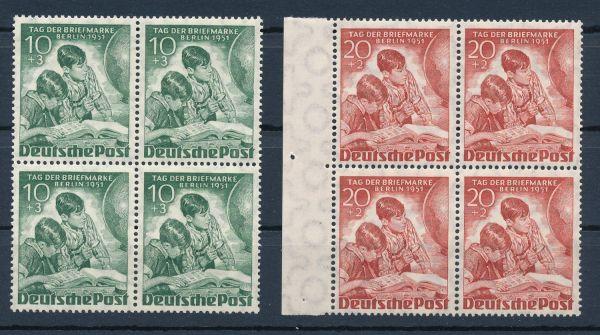 Berlin Mi.Nr.80-81 Viererblock ** postfrisch