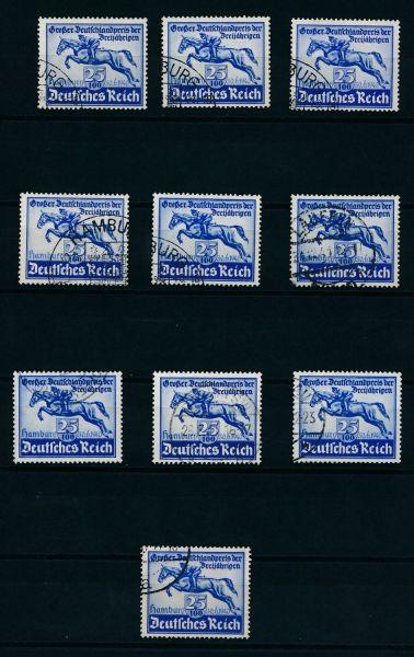 Deutsches Reich Mi.Nr. 746 gestempelt 10 mal