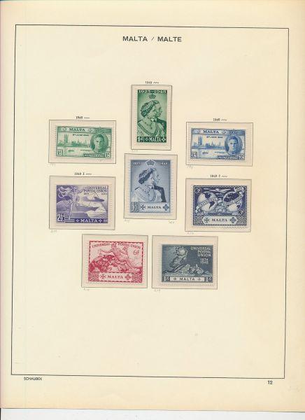 Malta 1946-1976 Komplette Sammlung im Vordruckalbum