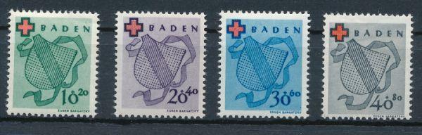 Baden Mi.Nr. 42-45 ** postfrisch