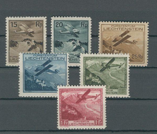 Liechtenstein Mi.Nr.108-113 ** Fotoattest Marxer